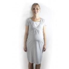 Noční těhotenská košile pro kojení s výstřihem