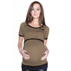 Těhotenské a mateřské tričko se spodním lemem