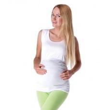 Těhotenské a kojící tričko bez rukávu